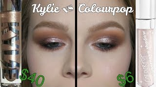 Kylie Glitter Eyes vs Colourpop Supernova Shadow