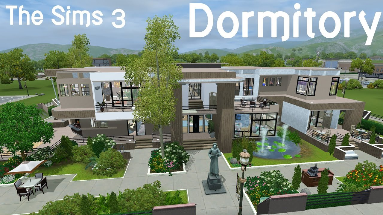 Sims  How To Build A Dormitory