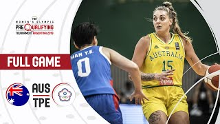 Australia v Chinese Taipei - Full Game - FIBA Women's Olympic Pre-Qualifying Tournaments 2019