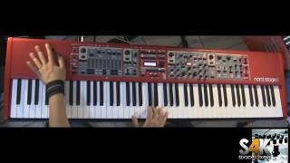 Clavia Nord Stage 2 Demo part 3 performed by space4keys s4k tv rhodes piano synth