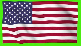 USA Flag Waving In Air Green Screen Free Animation #USAFlag #America #unitedstates