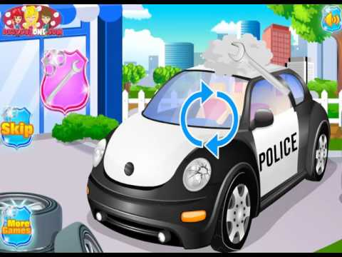 Мультик игра Автомойка для полицейской машины (Police Car Wash)