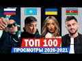 ТОП 100 клипов 2020 2021 по ПРОСМОТРАМ Россия Украина Казахстан Беларусь Лучшие песни mp3