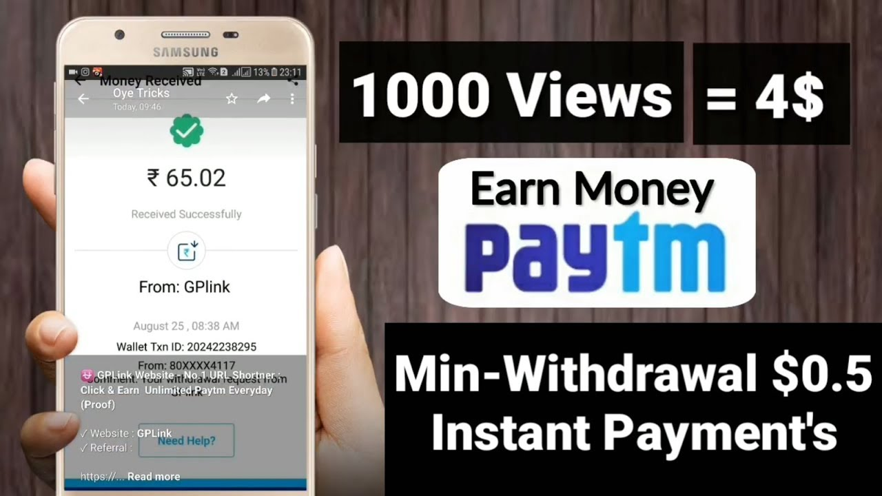 Earn $100 Daily Copy Paste Work GPlink | India's Highest Payout Website