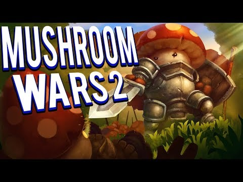 NEW RTS! MUSHROOM ARMIES AND EMPIRES - MUSHROOM WARS 2 GAMEPLAY LETS PLAY