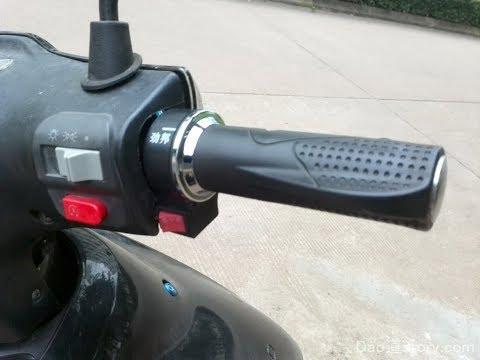 Установка тросика газа и регулировка люфта ручки газа на скутере