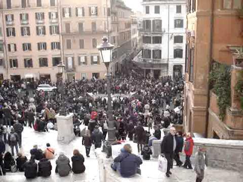 Germany-Rome-Egypt-Turkey: Sunday Walk Up Spanish Steps Rome #20 120609.MPG