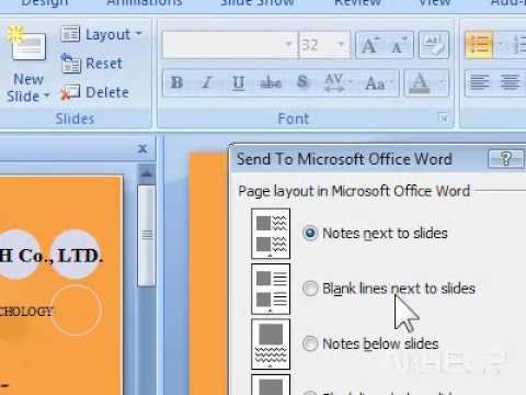 How to create PowerPoint handouts in Microsoft Word - YouTube