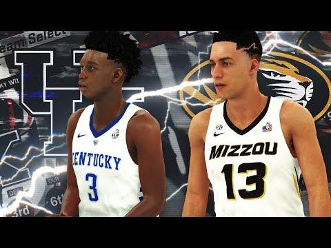 NBA 2K18 - NCAA 2K18 College Roster Gameplay Kentucky vs. Missouri dcc057c9b