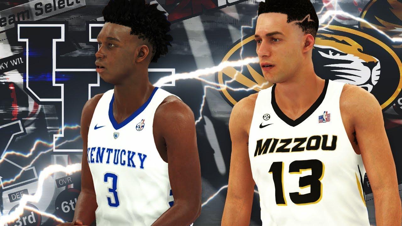 NBA 2K18 - NCAA 2K18 College Roster Gameplay Kentucky vs. Missouri ... 5d5f2970d