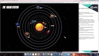 Create Solar System Using Unity