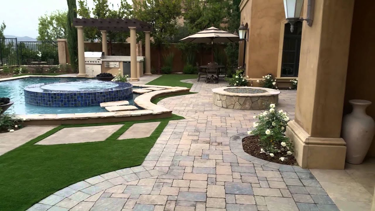 complete backyard entertainment with custom swimming pool and