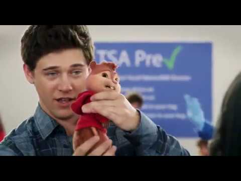 alvin and the chipmunks the road chip funny airport body search security scene