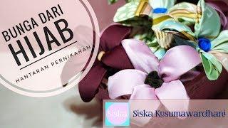 Menghias Hijab menjadi Bunga