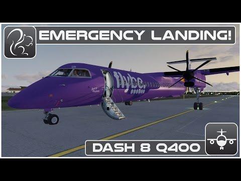 [P3D] EMERGENCY LANDING! - Dash 8 Q400 Shared Cockpit (EGBB-EGPH)