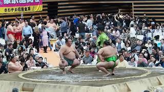 2019年4月17日 大相撲 羽田国際場所 琴勇輝 v.s. 千代丸.