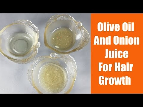 How to use Olive Oil And Onion Juice For Hair Growth recipe