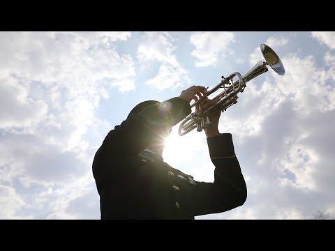 Army Bugler Plays TAPS