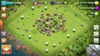 Clash of Clans | TOWN HALL 5 - UPGRADING WALL LEVEL 2 -FIGHTING AND WIN MORE GOLD 201902271218