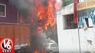 Massive Fire Accident In Transport Godown At MJ Market Road | …