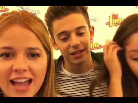 Karol Sevilla, Ana Jara y Ruggero Pasquarelli. Live facebook Disney Channel España
