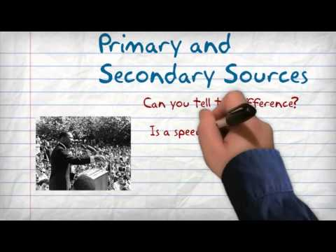 Primary vs Secondary Sources