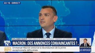 Conférence de presse d'E.Macron: Benjamin Cauchy réagit sur BFMTV