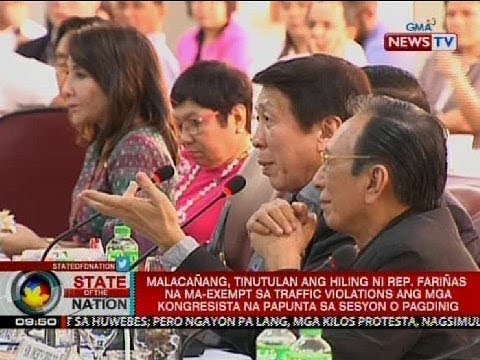 Malacañang, tinutulan ang hiling ni Rep. Fariñas na ma-exempt sa traffic violations