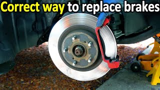 Here's the correct way to Change Brake Pads & Rotors in a car