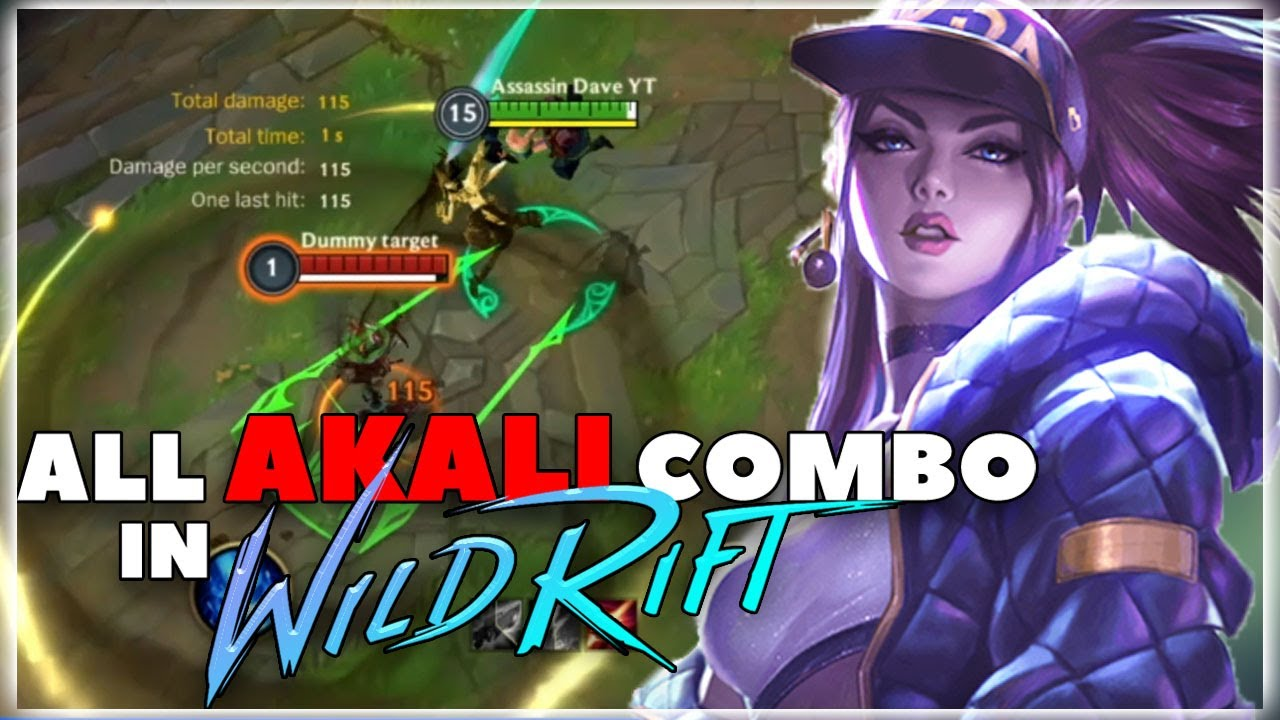 All Akali Combo Demo in Wild Rift | League of Legends Wild Rift