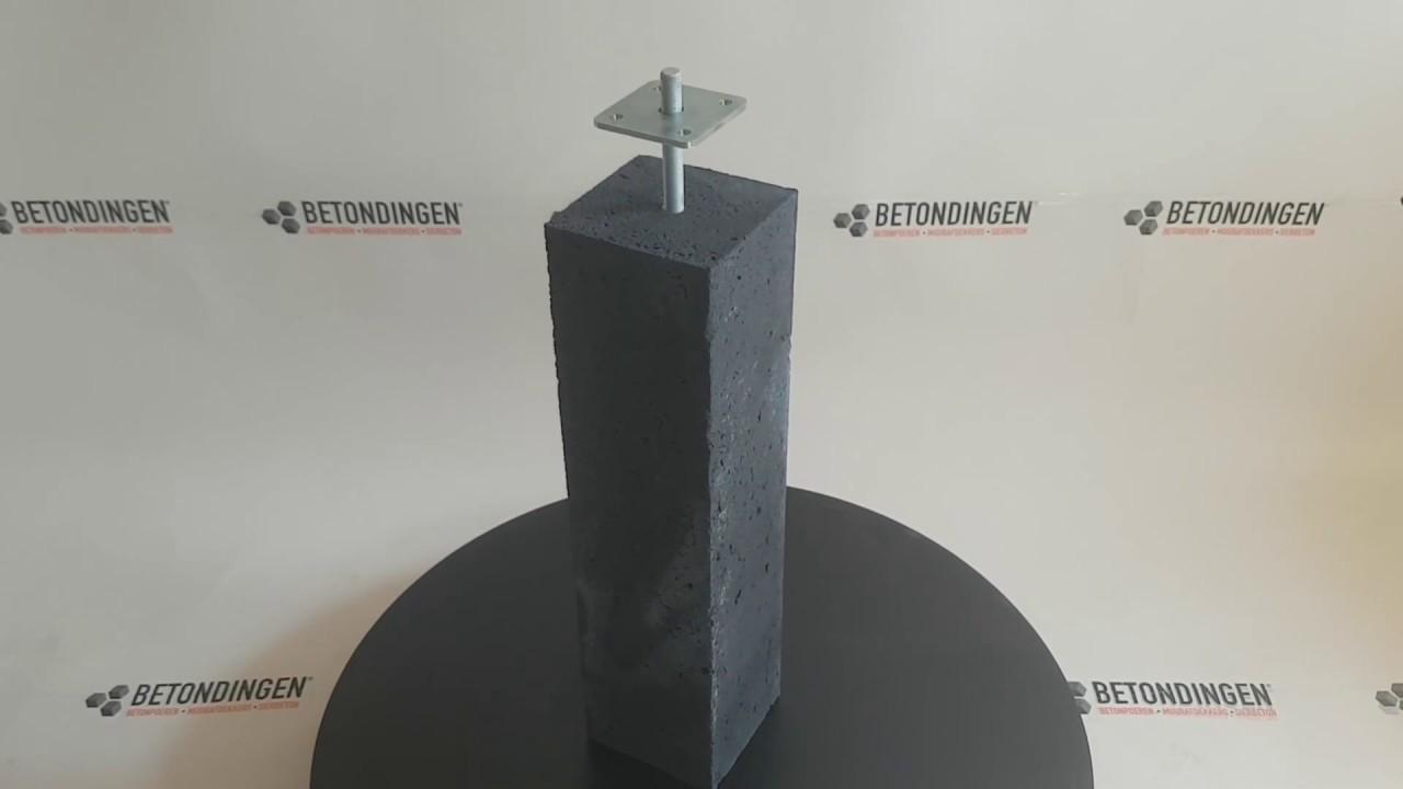 Onwijs Prefab Betonpoer 15x15x60 cm incl. hoogteverstelling | Betondingen ED-45
