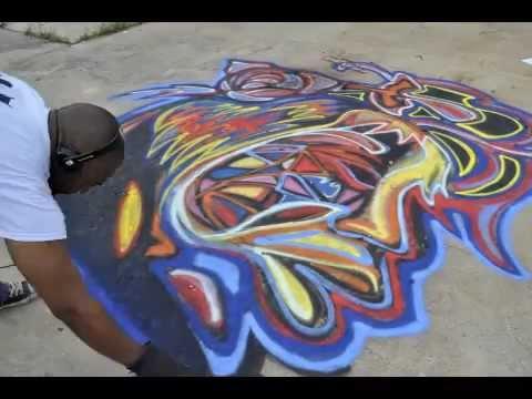 Street art graffiti by atlanta mural artist corey for African mural painting