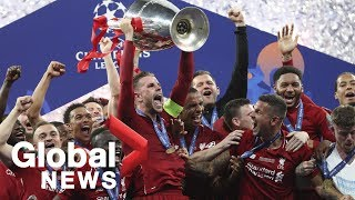 Liverpool celebrates winning Champions League