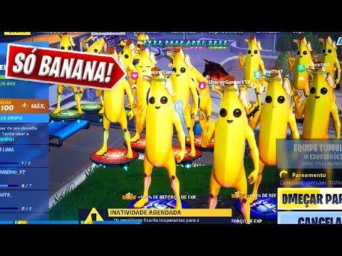 Criamos O Squad Mais Fofo Só Com Bananas No Fortnite.. (Muito Fofo)