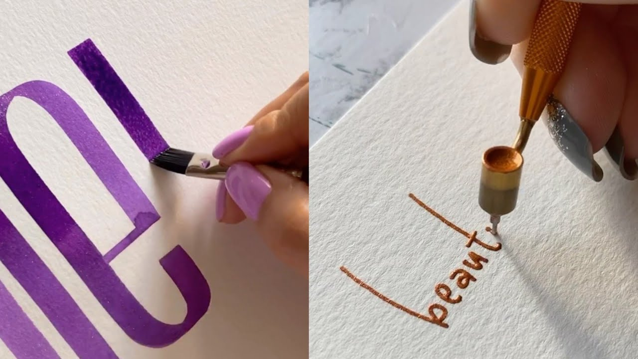 The best calligraphy and lettering unusual pen and marker