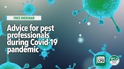 WEBINAR: Advice for pest professionals during Covid 19 pandemic