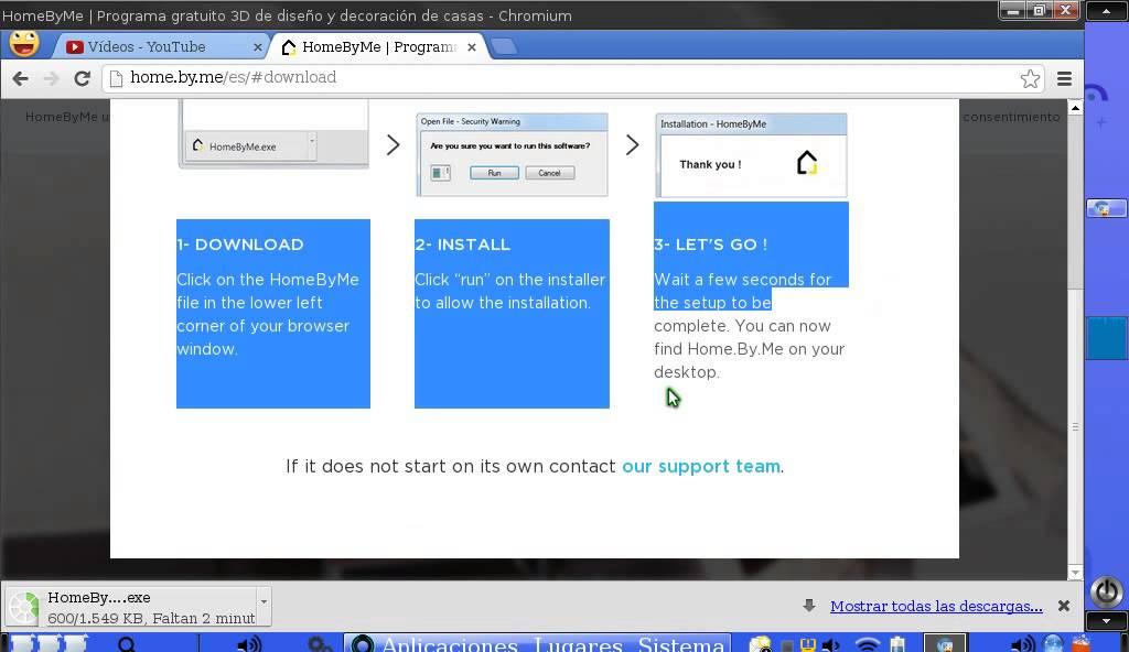 tutorial para descargar homebyme en google chrome nuevo tutorial