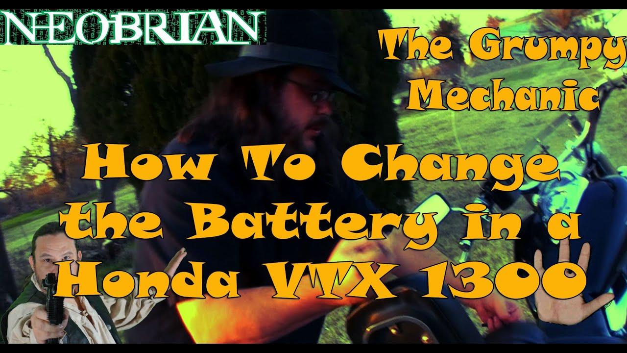 2002 2009 honda vtx 1300 how to install the battery the grumpy mechanic [ 1280 x 720 Pixel ]