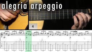 Flamenco Guitar 102 - 28 Alegria Arpeggio