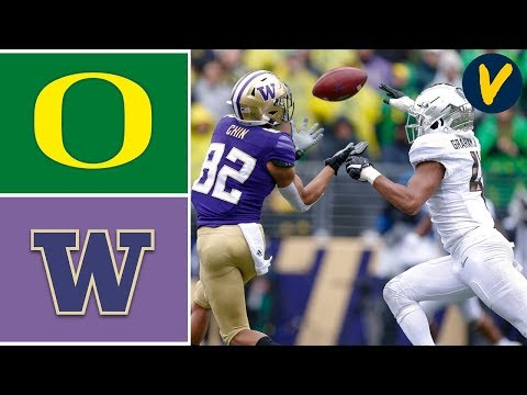 #12 Oregon vs #25 Washington Highlights | Week 8 | College Football Highlights