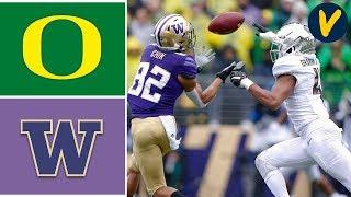 #12 Oregon vs #25 Washington Highlights Week 8 College Football Highlights