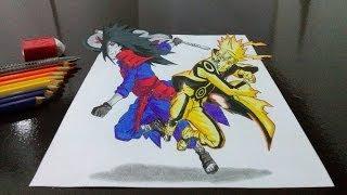 Desenhando Naruto vs Madara em 3D (Drawing Naruto x Madara in 3D)(Neste video eu desenho o Naruto vs Madara usando a técnica de desenho 3D. Se gostarem e querem ajudar: LIKE, LIKE E LIKE kkkkkk ja ajuda muito Se ..., 2013-12-17T13:59:15.000Z)