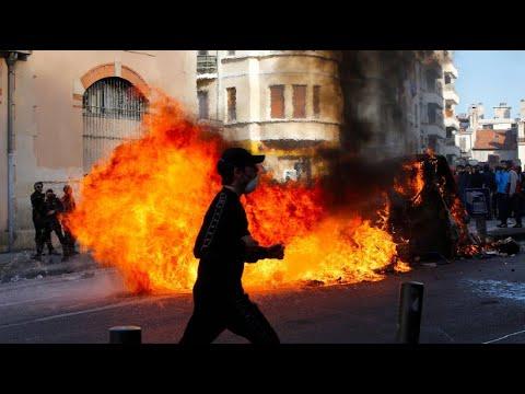 Unruhen in Frankreich: Schüler und Studenten protestieren weiter