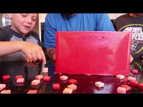 GIANT CANDY STARBURST DIY 60,000 CALORIES!!