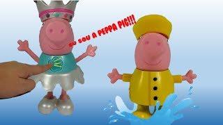 Nova Peppa Pig que fala! Novo Brinquedo Lançamento Peppa que fala e troca roupa!