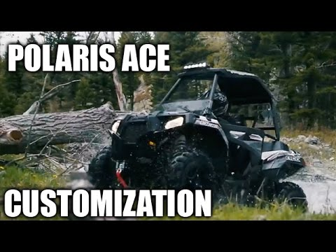 Polaris ACE Aftermarket Accessories Installation - YouTube