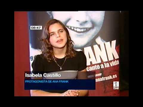 TVE entrevista Isabella Castillo El Diario de Ana Frank