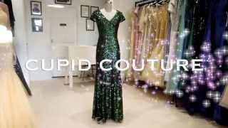 1278 Green sequin full length women