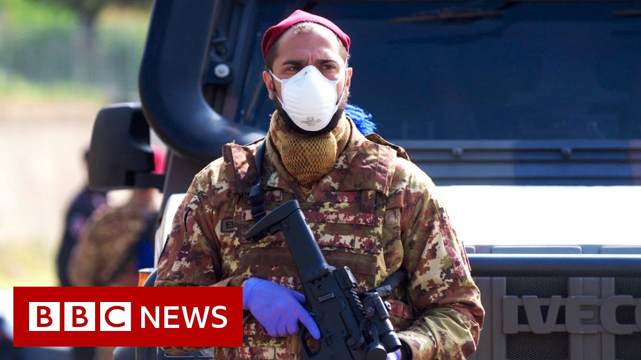 Coronavirus: Quarantined Italian village turned into human laboratory - BBC News