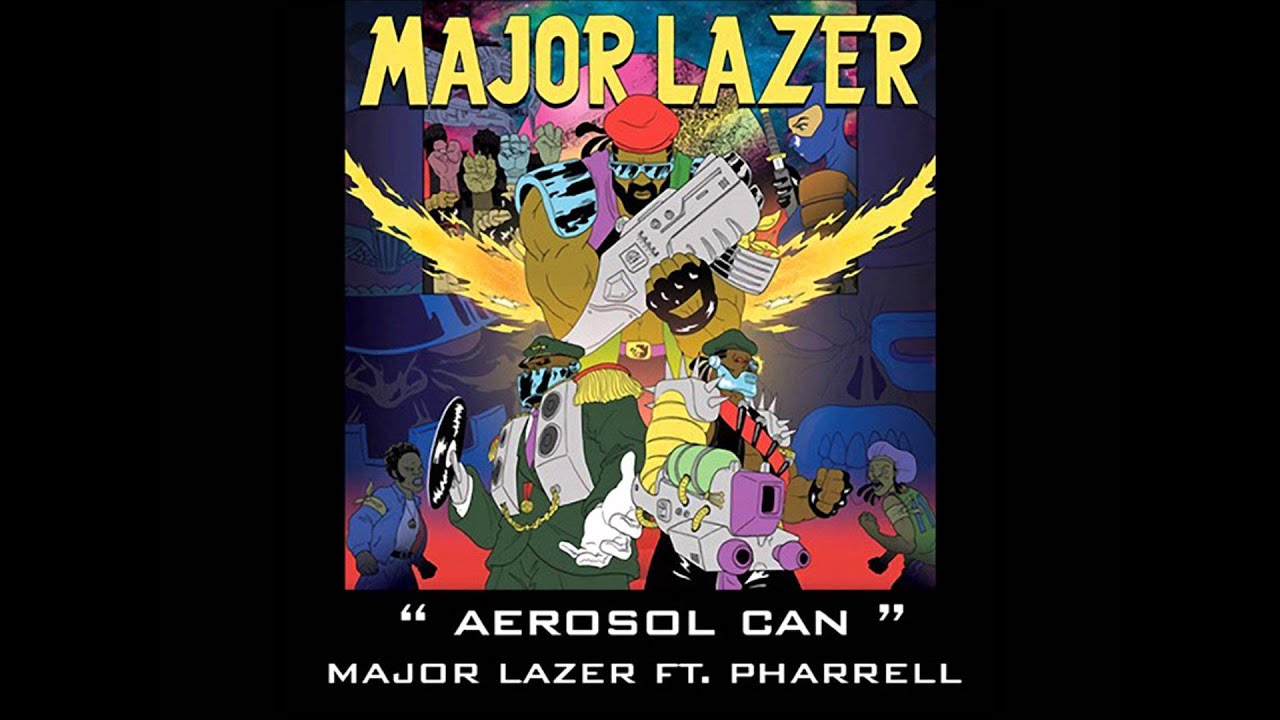 Major Lazer Feat Pharrell - Aerosol Can (Acapella Dirty) | 128 BPM